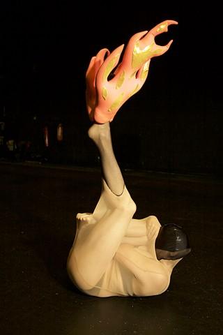 Fire Stocking Woman