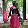 """Illusion Dress 2 """"Speaking""""  4 hour Durational performance in Park Tabor 8th October 2011  photo by Nada Zgank"""