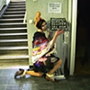 """Illusion Dress 1 """"Creating""""  4 hour Durational performance at City Of Women Festival 7th October 2011"""