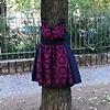 "Tree Dress Park Tabor, Ljubljana Oct - December 2011  Tree Dress on left is titled ""Ann Lovett""  Tree Dress on right is titled ""Simone De Beauvoir"""