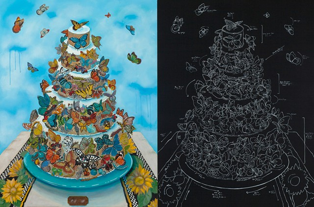 Butterflies, cake, whimsy