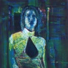 STANDING WOMAN WITH GREEN AND BLUE