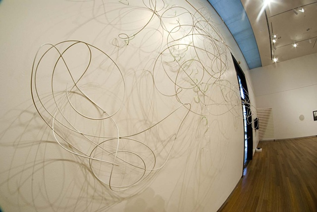 White Shadows as seen in the Herron main Gallery, Indianapolis IN. By Katrina Murray, photo courtesy of Katelin Kenny