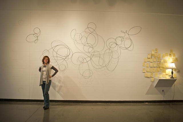Scribble Installation by Katrina Murray,  Photo courtesy of Katelin Kenny