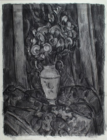 After Cezanne, Vase of Flowers