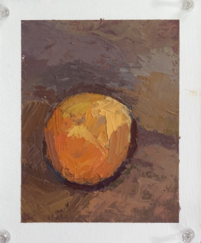 Orange Oil on Paper 8 x 5  2015