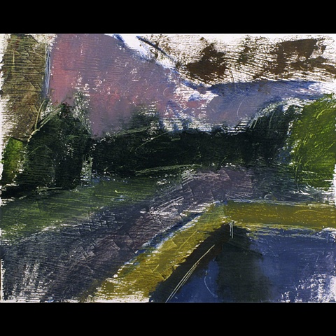 Christopher Dolan, Landscape, Painting, Oil on Paper, 2011, Washington,Christopher Dolan, Chris Dolan, Landscape, Oil on Paper, Painting DC