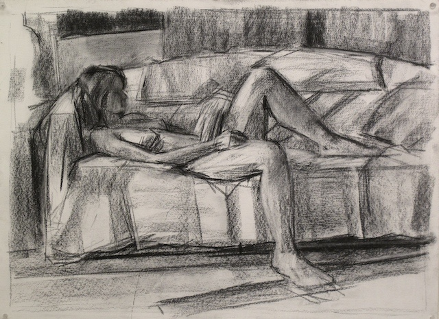 model and couch #2