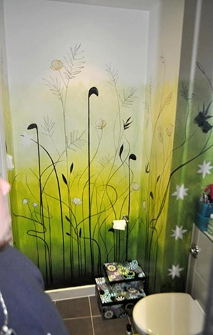 Martin Lynch Smith - Bathroom wall painting