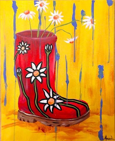Rainboot Flowers