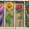 Flowers on Antique Window