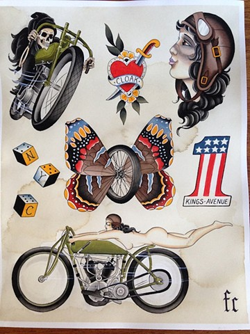 In The Wind motorcycle print