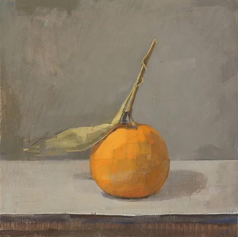 Orange on Grey