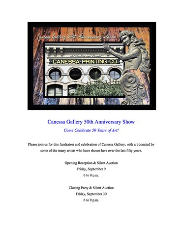 Honored to be among the many artists supporting Canessa Gallery at this fundraiser exhibit/silent auction.