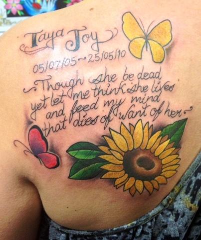 In memory of Taya