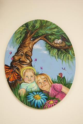 Jaren Spray and his Sister Amelia, picture painted by Veronique