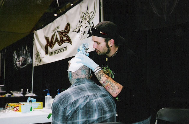 mike tattooing puzzle dude