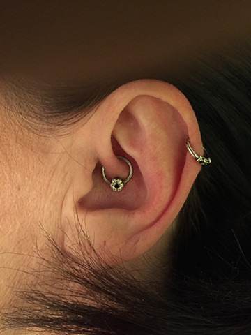Daith healed with CBR and flower