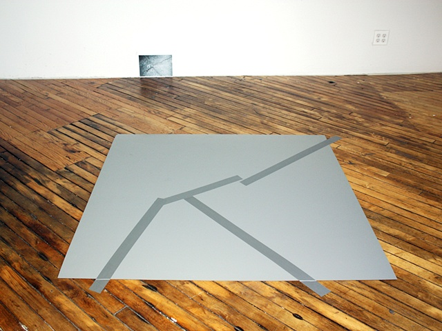 sculpture of formica sidewalk crack and stock photo by Rena Leinberger