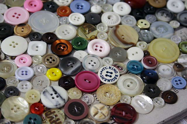 Today I Sewed Buttons (detail)