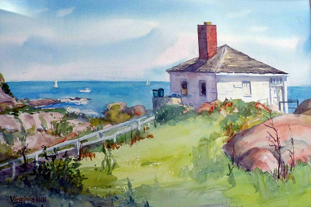 Painted on location on a gorgeous summer day at sea