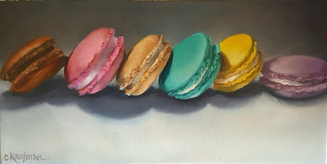 Macarons in a Line