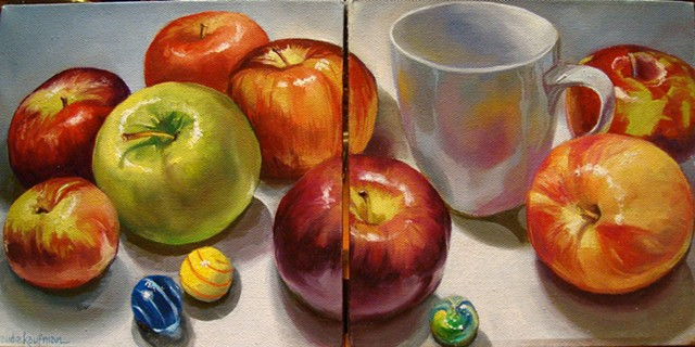 Apples and Cup Diptyct