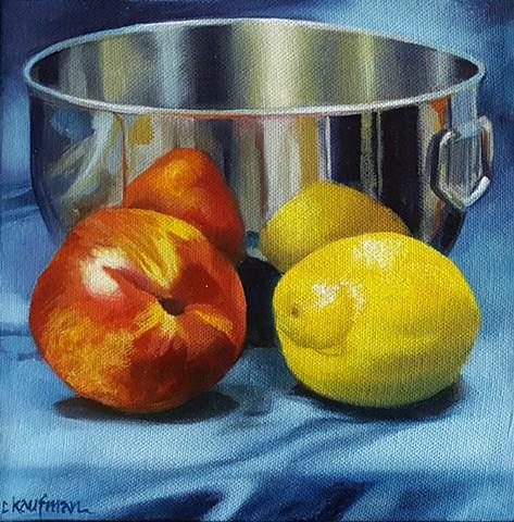 Lemon, Peach and Bowl