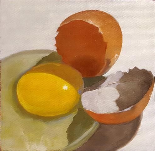 Egg on White