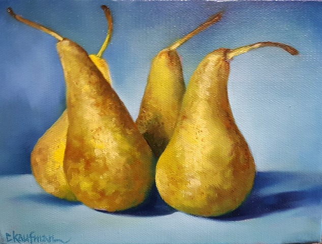 Four Pears Standing
