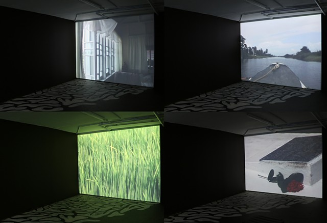Composite image of video installation
