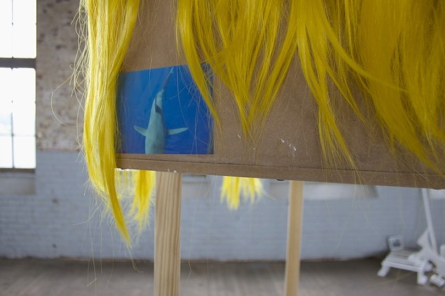 Yellow Hair Box on Wobbly Legs (detail)