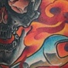 Ink Machine Tattoo  Edmonton AB  Jims flamin' skull& wrenches 2011