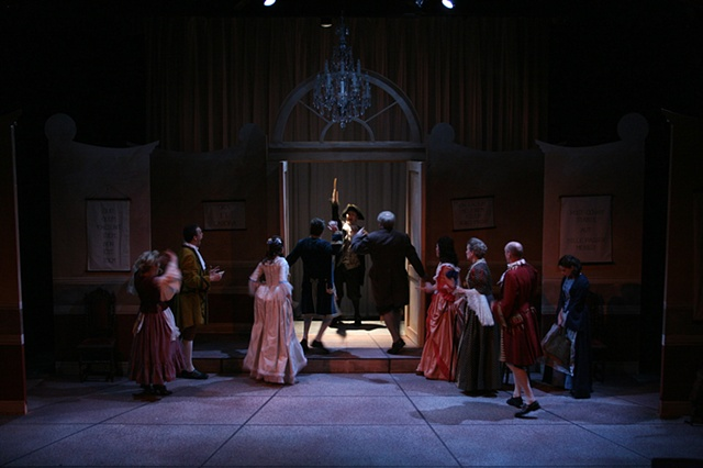Tartuffe appears with deed in hand.