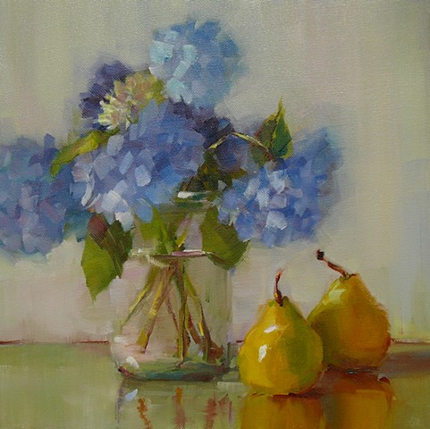 Hydrangeas with Pears