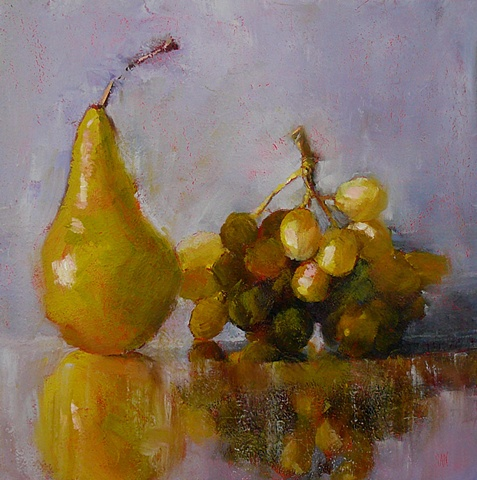 Pear with Grapes