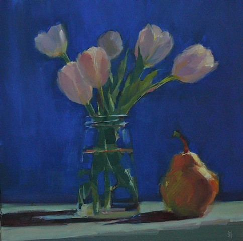 Tulips with Pear