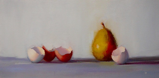 Pear with Eggshells