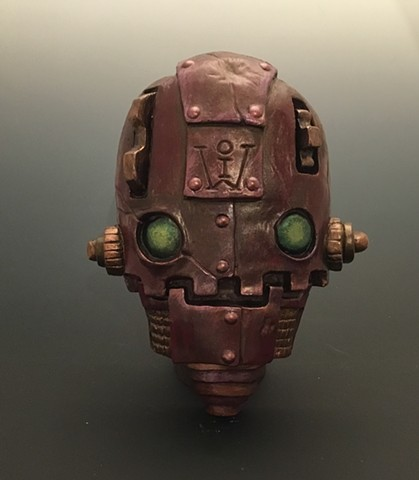 """Impossible Winterbourne  """"SkullBots"""" Red with Green Eyes"""