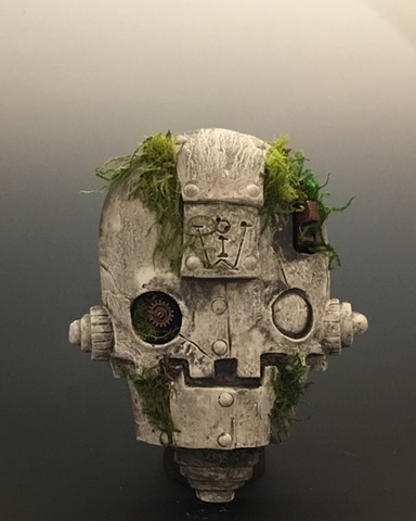 "Impossible Winterbourne  ""Skull Bot"" Stone and Moss"