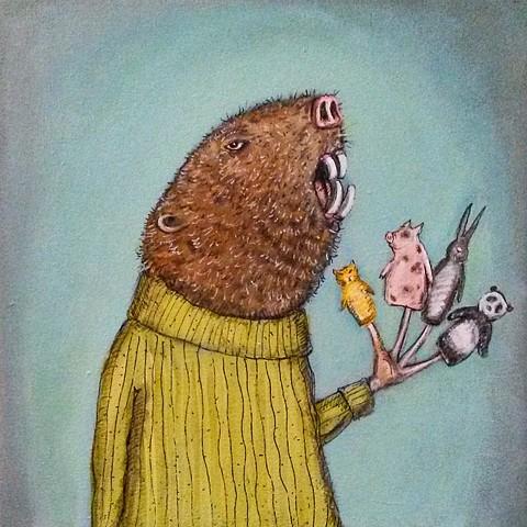 """Sarah Higdon """"Finger Puppets"""""""