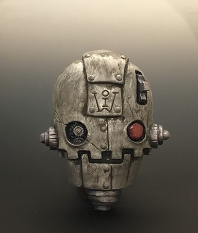 """Impossible Winterbourne  """"Skull Bots"""" Pewter"""