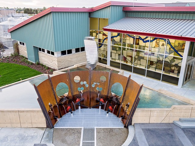 A three acre educational campus featuring interactive exhibits and public art that portray the regional watershed and environmental concepts.