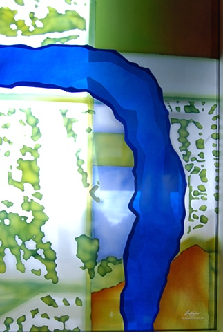 Public Art at the Boise Watershed Boise Idaho, Derix Art Glass