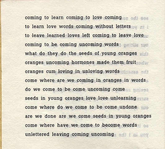 coming to learn coming to love coming  from brazilia you  pas de chance press, 2004