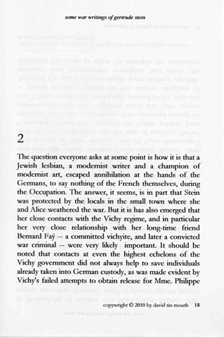 some war writings of gertrude stein  chapter one, page eighteen