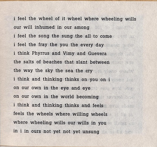 i feel the wheel of it wheel where wheeling wills  from brazilia you  pas de chance press, 2004