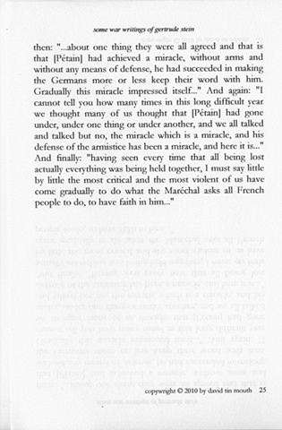 some war writings of gertrude stein  page twenty-five