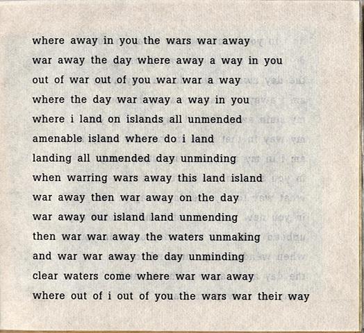 where away in you the wars war away  from brazilia you  pas de chance press, 2004