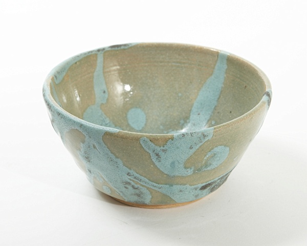 Clear and blue bowl